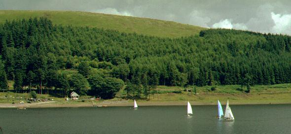 A view across the reservoir towards the club